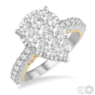 Ashi Diamonds 14k Two-Tone Gold Lovebright Collection Diamond Ring - 121F0DJFVWY-2.00