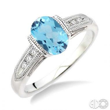 Ashi Diamonds Sterling Silver Diamond & Gemstone Ring - 88469DJSSBTSLRG