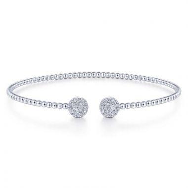 Gabriel & Co. 14k White Gold Bujukan Diamond Bangle Bracelet