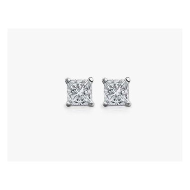 Diamond 1/2 ctw Princess Cut Studs