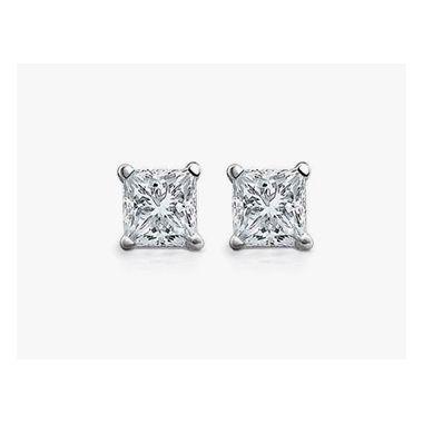 Diamond 1 ctw Princess Cut Studs
