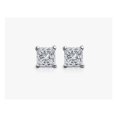 Diamond 3/4 ctw Princess Cut Studs
