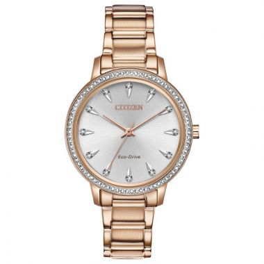 Citizen Silhouette Crystal Rose Stainless Steel Watch
