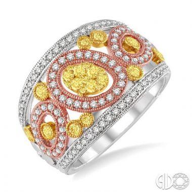 Ashi Diamonds 14k Tri-Tone Gold Diamond Ring - 34531DJFV3T