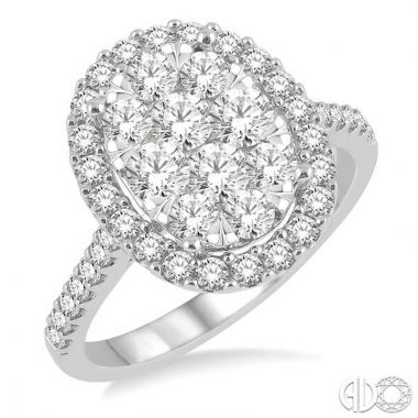 Ashi Diamonds 14k White Gold Lovebright Collection Diamond Ring - 13270DJFVWG-1.50
