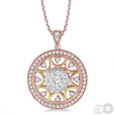 Ashi Diamonds 14k Tri-Tone Gold Lovebright Collection Diamond Pendant - 95961DJFVPD3T