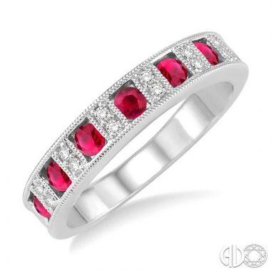 Ashi Diamonds 14k White Gold Diamond & Gemstone Ring - 46338DJFHRBWG