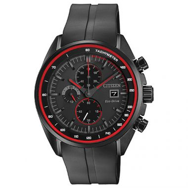 Citizen Drive Black Stainless Steel Diamond Chronograph Watch