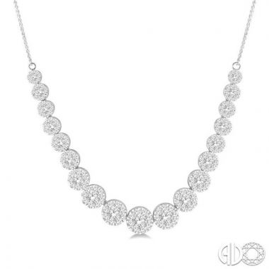 Ashi Diamonds 14k White Gold Lovebright Collection Diamond Necklace - 99364DJFVNKWG