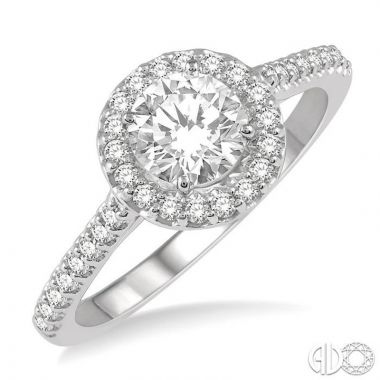 Ashi Diamonds 14k White Gold Halo Diamond Engagement Ring - 240G2DJFHWG-LE