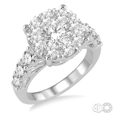 Ashi Diamonds 18k White Gold Lovebright Collection Diamond Ring - 140D0DJEVWG-2.00