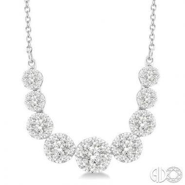 Ashi Diamonds 14k White Gold Lovebright Collection Diamond Necklace - 99361DJFVNKWG