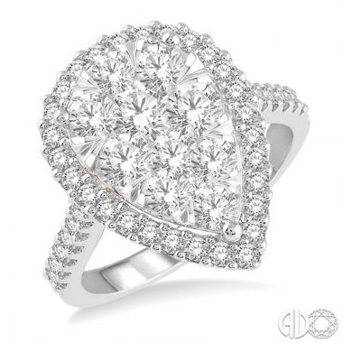 Ashi Diamonds 14k Two-Tone Gold Lovebright Collection Diamond Ring - 126F0DJFVWP-2.00