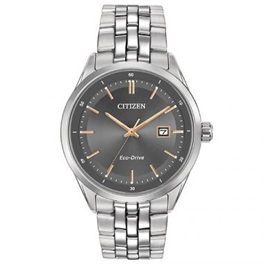 Citizen Eco Drive Black Stainless Steel Bracelet Watch