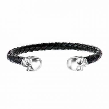 Inox White Stainless Steel Cuff Bracelet