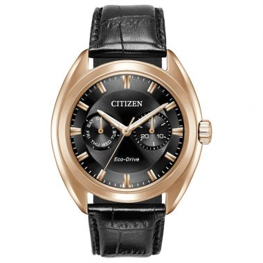 Citizen Paradex Rose Stainless Steel Diamond Leather Band Watch