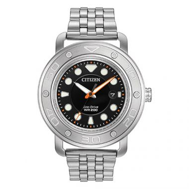 Citizen Eco Drive Black Stainless Steel Bracelet Watch