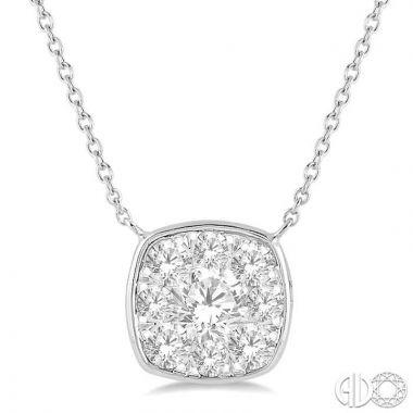 Ashi Diamonds 14k White Gold Lovebright Collection Diamond Necklace - 9980HDJFHNKWG