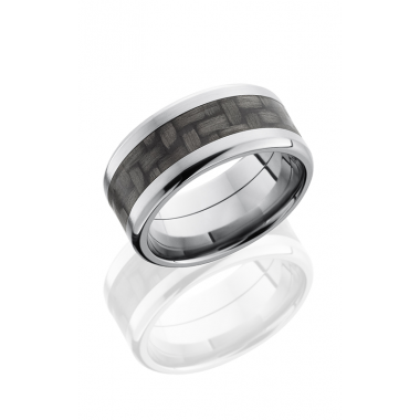 Lashbrook Carbon Fiber White Titanium Wedding Band