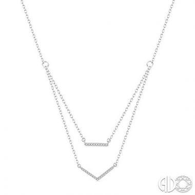 Ashi Diamonds 10k White Gold Millennium Collection Diamond Necklace - 674J8DJTSPDWG