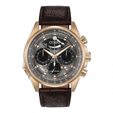 Citizen Eco Drive Black Stainless Steel Diamond Chronograph Watch