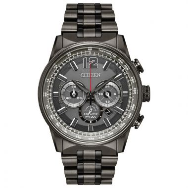 Citizen Grey Stainless Steel Diamond Chronograph Watch