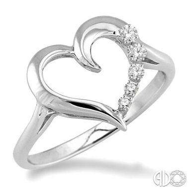Ashi Diamonds Sterling Silver Heart Collection Diamond Ring - 86799DJSSSLRG