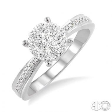 Ashi Diamonds 14k White Gold Lovebright Collection Diamond Ring - 19423DJFVWG-LE
