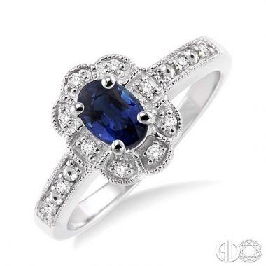 Ashi Diamonds Sterling Silver Diamond & Gemstone Ring - 88349DJSSSPSLRG