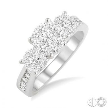 Ashi Diamonds 14k White Gold Lovebright Collection Diamond Ring - 36911DJFVWG