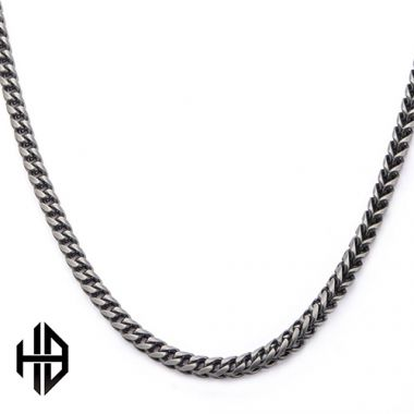 Inox Black Stainless Steel Necklace