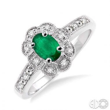 Ashi Diamonds Sterling Silver Diamond & Gemstone Ring - 88349DJSSEMSLRG