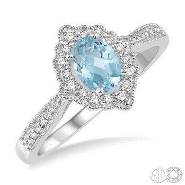 Ashi Diamonds 10k White Gold Diamond & Gemstone Ring - 52367DJTSAQWG