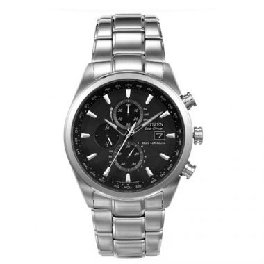 Citizen Black Stainless Steel Diamond Automatic Watch