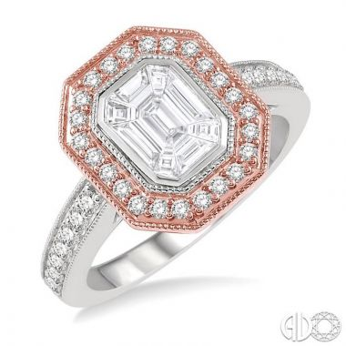 Ashi Diamonds 14k Two-Tone Gold Fushion Diamonds Collection Ring - 290A1DJFVWP