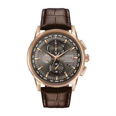 Citizen Black Stainless Steel Diamond Chronograph Watch