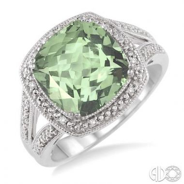 Ashi Diamonds Sterling Silver Diamond & Gemstone Ring - 88539DJSSGASLRG