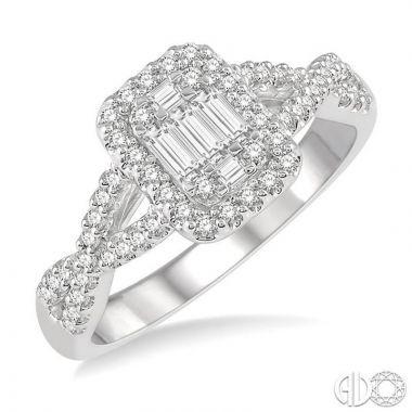 Ashi Diamonds 14k White Gold Fushion Diamonds Collection Ring - 291F3DJFVWG