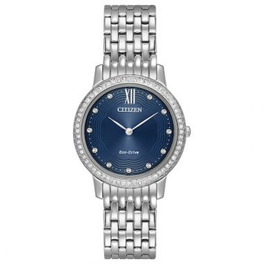 Citizen Silhouette Crystal White Stainless Steel Watch