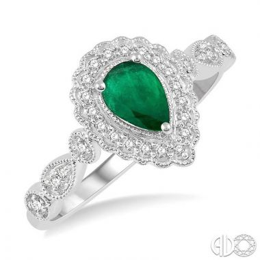 Ashi Diamonds 10k White Gold Diamond & Gemstone Ring - 40918DJTSEMWG