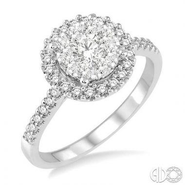 Ashi Diamonds 14k White Gold Lovebright Collection Diamond Ring - 13292DJFVWG