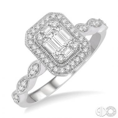 Ashi Diamonds 14k White Gold Fushion Diamonds Collection Ring - 113A5DJFRWG