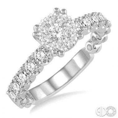 Ashi Diamonds 14k White Gold Lovebright Collection Diamond Ring - 13481DJFVWG
