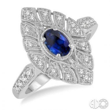 Ashi Diamonds 10k White Gold Diamond & Gemstone Ring - 42717DJTSSPWG