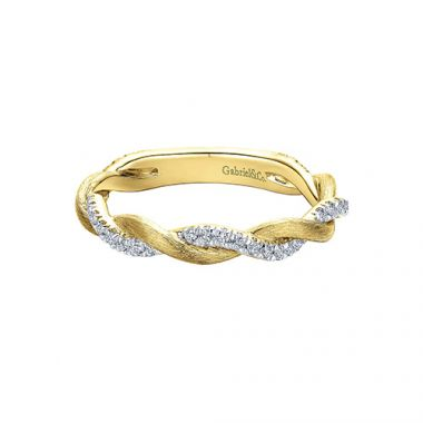 Gabriel & Co. Bridal 14k Yellow Gold Stackable Diamond Ring