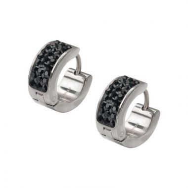 Inox White Stainless Steel Huggie Earrings