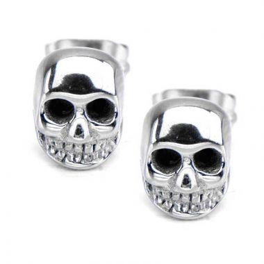 Inox White Stainless Steel Stud Earrings