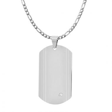 Inox White Stainless Steel Pendant